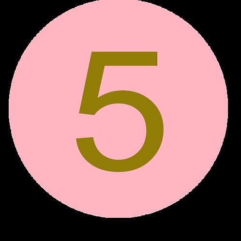 5 LARGE CIRCLE GOLD