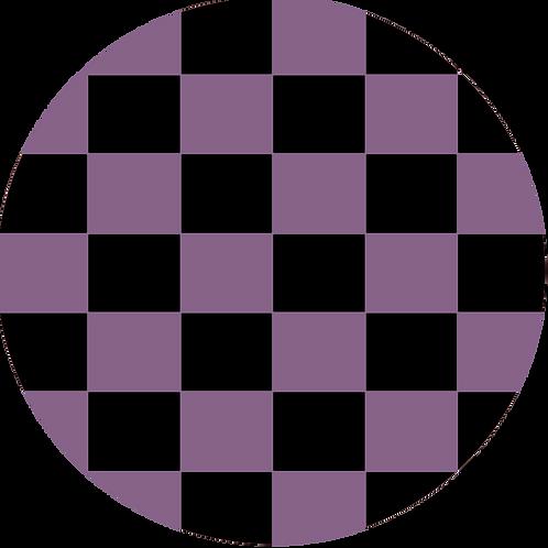 LARGE CIRCLE CHECKED BLACK BASE
