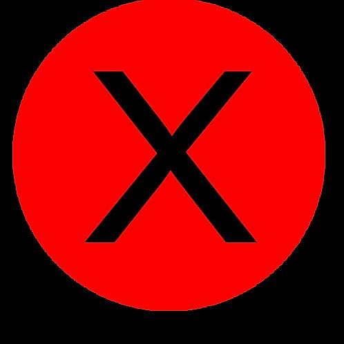 LETTER X BLACK LARGE CIRCLE