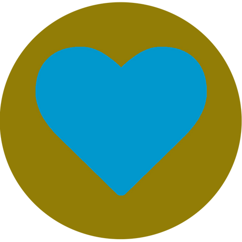 LARGE CIRCLE BLUE HEART