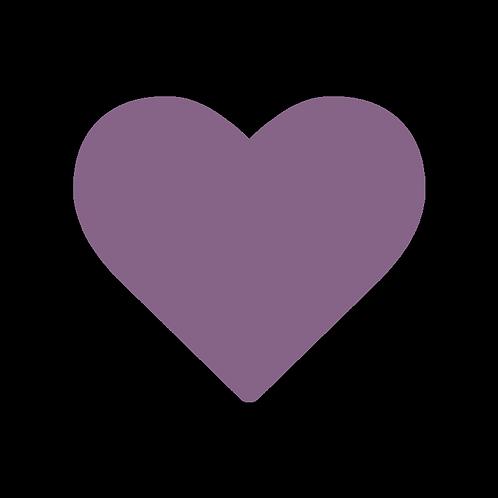 LARGE CIRCLE VIOLET HEART