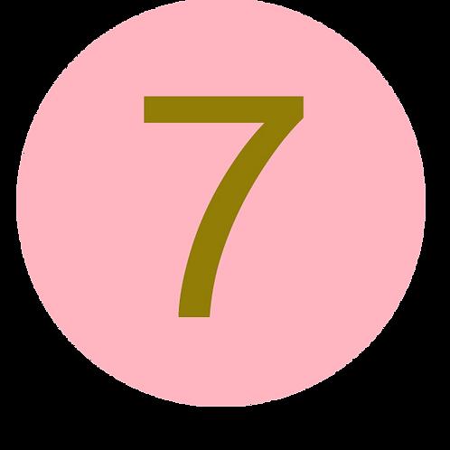 7 LARGE CIRCLE GOLD