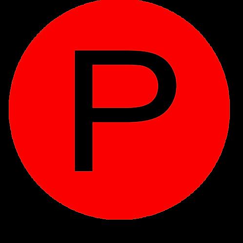 LETTER P BLACK LARGE CIRCLE