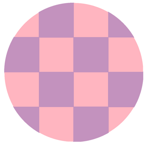 SMALL ROUND CHECKED PINK BASE