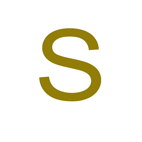 LETTER S GOLD LARGE CIRCLE