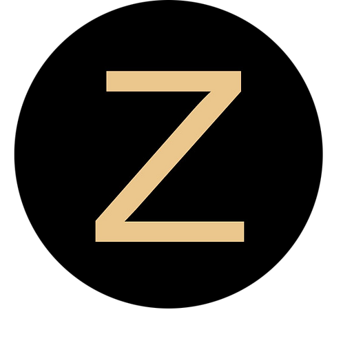 LETTER Z CHAMPAGNE LARGE CIRCLE