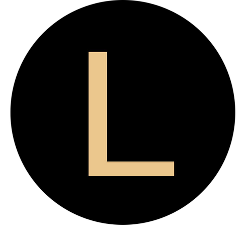 LETTER L CHAMPAGNE LARGE CIRCLE