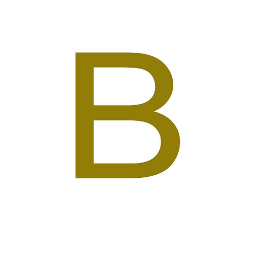 LETTER B GOLD LARGE CIRCLE