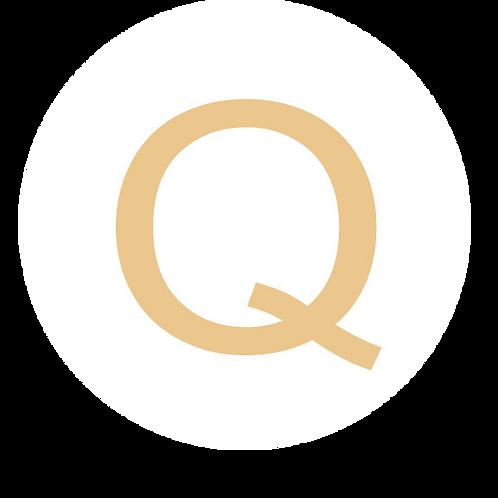 LETTER Q CHAMPAGNE LARGE CIRCLE