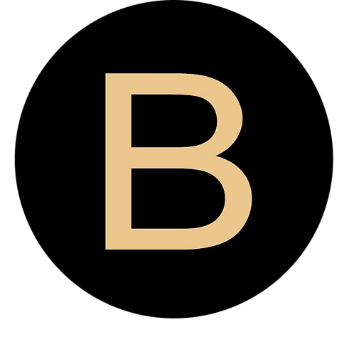 LETTER B CHAMPAGNE LARGE CIRCLE