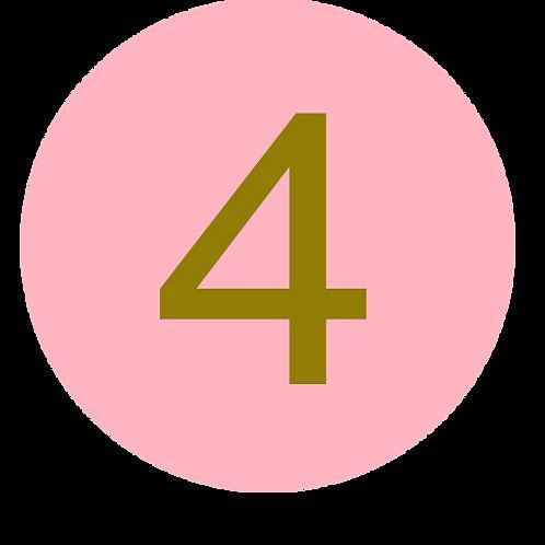 4 LARGE CIRCLE GOLD