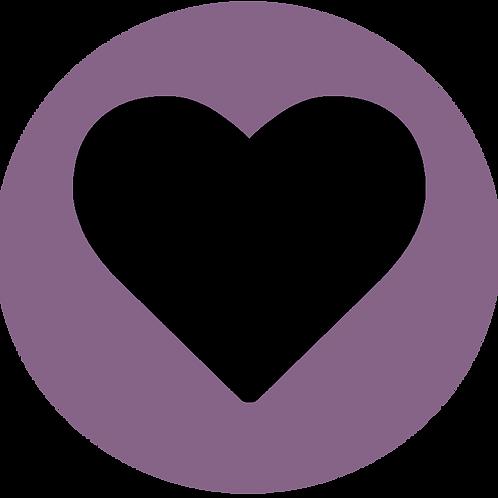 LARGE CIRCLE BLACK HEART