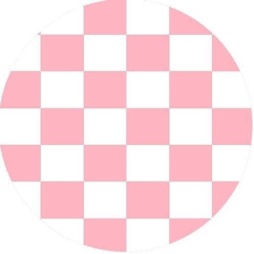 LARGE CIRCLE CHECKED PINK BASE