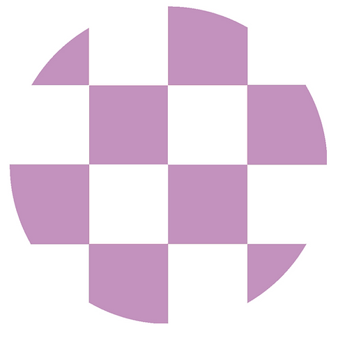 SMALL ROUND CHECKED LIGHT VIOLET BASE