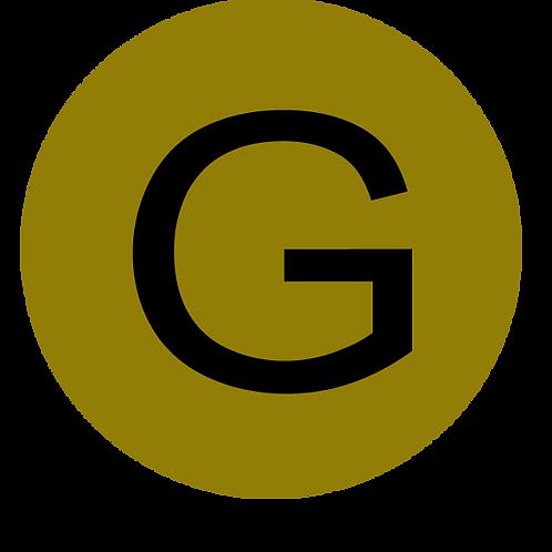 LETTER G BLACK LARGE CIRCLE
