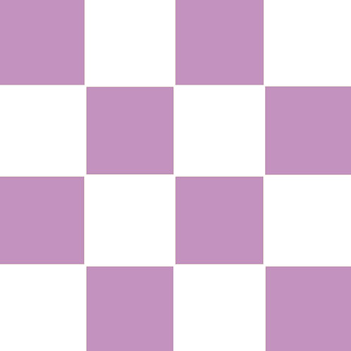 SMALL SQUARE CHECKED LIGHT VIOLET BASE