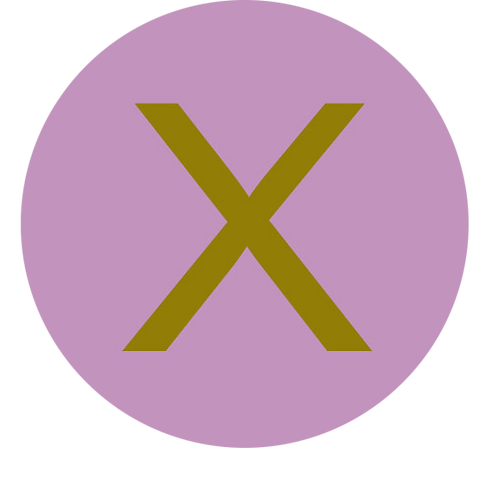 LETTER X GOLD LARGE CIRCLE
