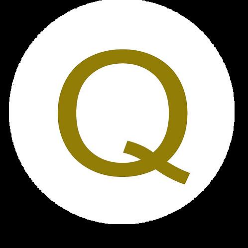 LETTER Q GOLD LARGE CIRCLE