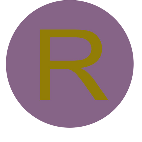 LETTER R GOLD LARGE CIRCLE