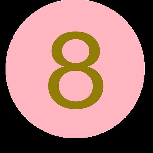 8 LARGE CIRCLE GOLD