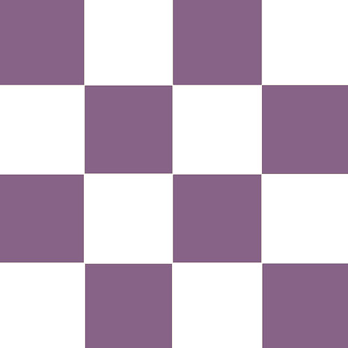 SMALL SQUARE CHECKED VIOLET BASE