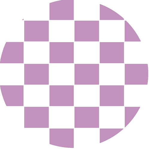 LARGE CIRCLE CHECKED LIGHT VIOLET BASE