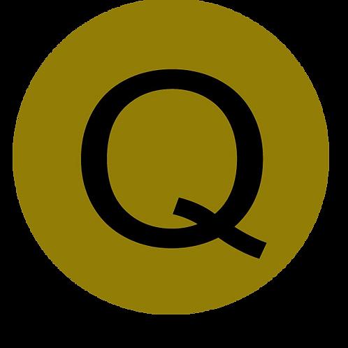 LETTER Q BLACK LARGE CIRCLE