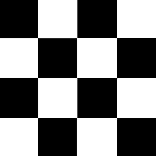 SMALL SQUARE CHECKED BLACK BASE