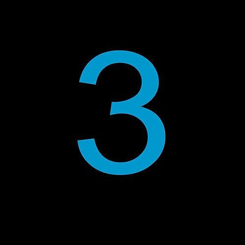 3 LARGE SQUARE BLUE