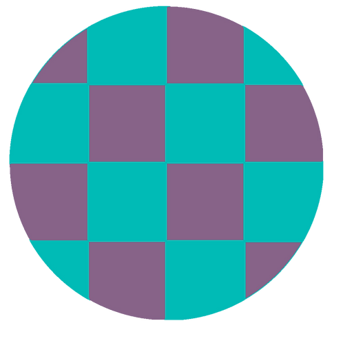 SMALL ROUND CHECKED VIOLET BASE