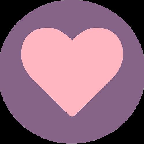 LARGE CIRCLE PINK HEART