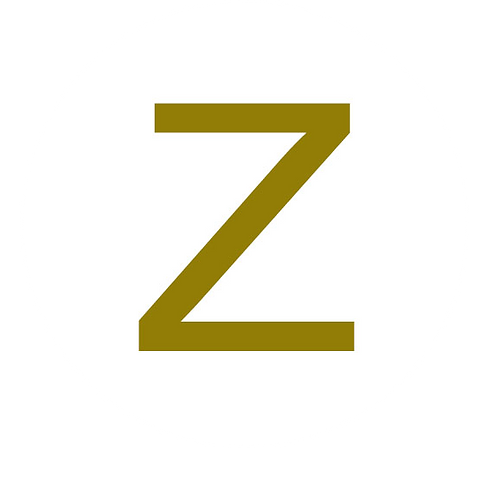 LETTER Z GOLD LARGE CIRCLE