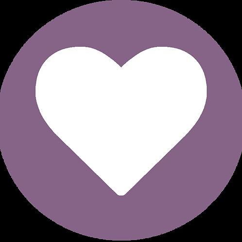 LARGE CIRCLE WHITE HEART