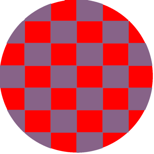 LARGE CIRCLE CHECKED RED BASE