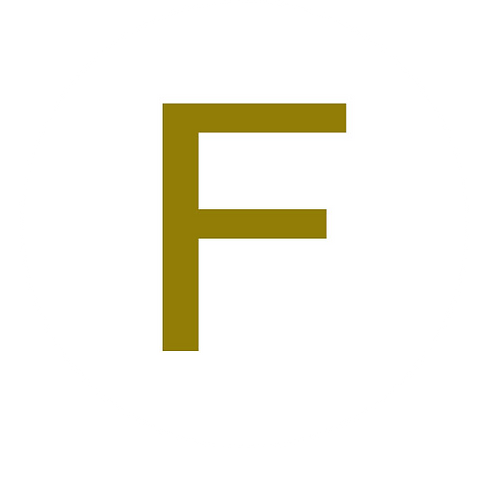 LETTER F GOLD LARGE CIRCLE