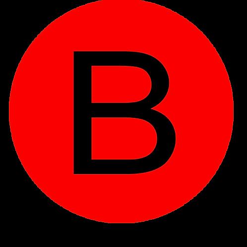 LETTER B BLACK LARGE CIRCLE