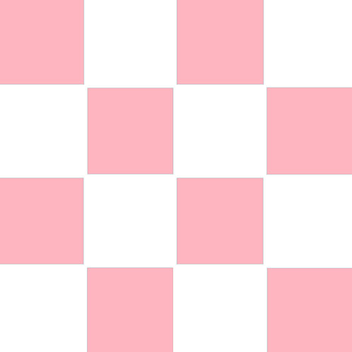 SMALL SQUARE CHECKED PINK BASE