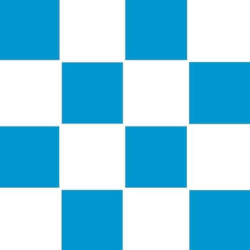 SMALL SQUARE CHECKED BLUE BASE