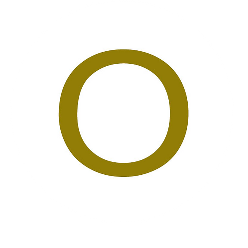 LETTER O GOLD LARGE CIRCLE