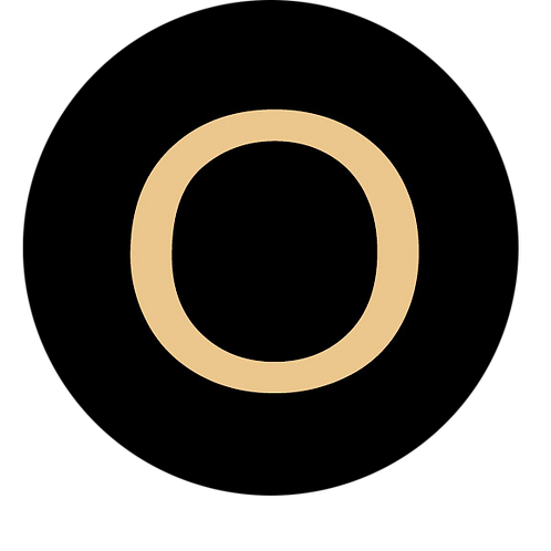 LETTER O CHAMPAGNE LARGE CIRCLE