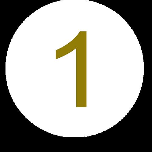 1 LARGE CIRCLE GOLD