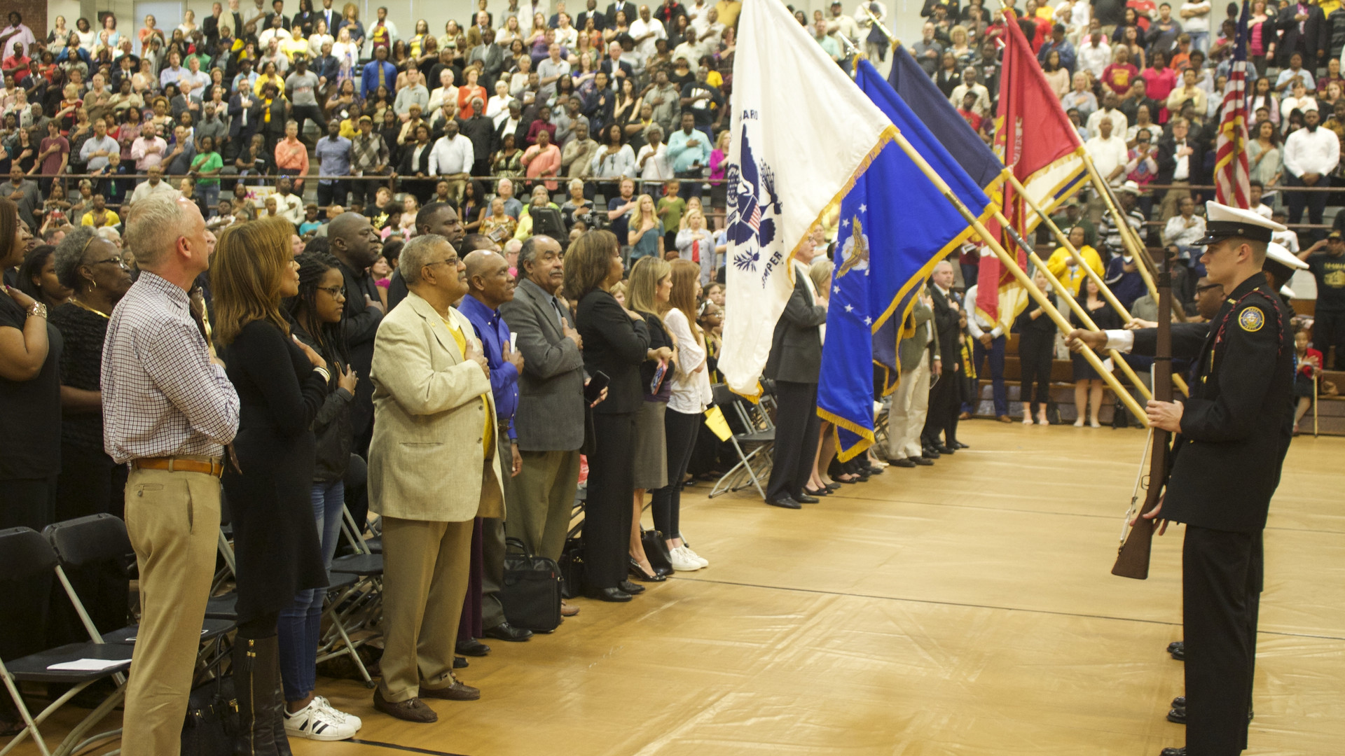 Color Guard at the MLK & Wilmington: 50 Year Commemoration