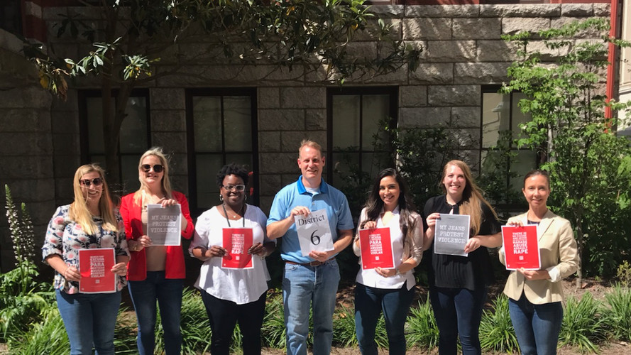 National Denim Day to support the Rape Crisis Center, April 24, 2019