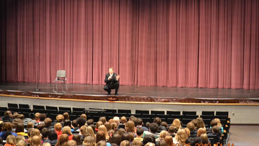 School talk at Ashley High