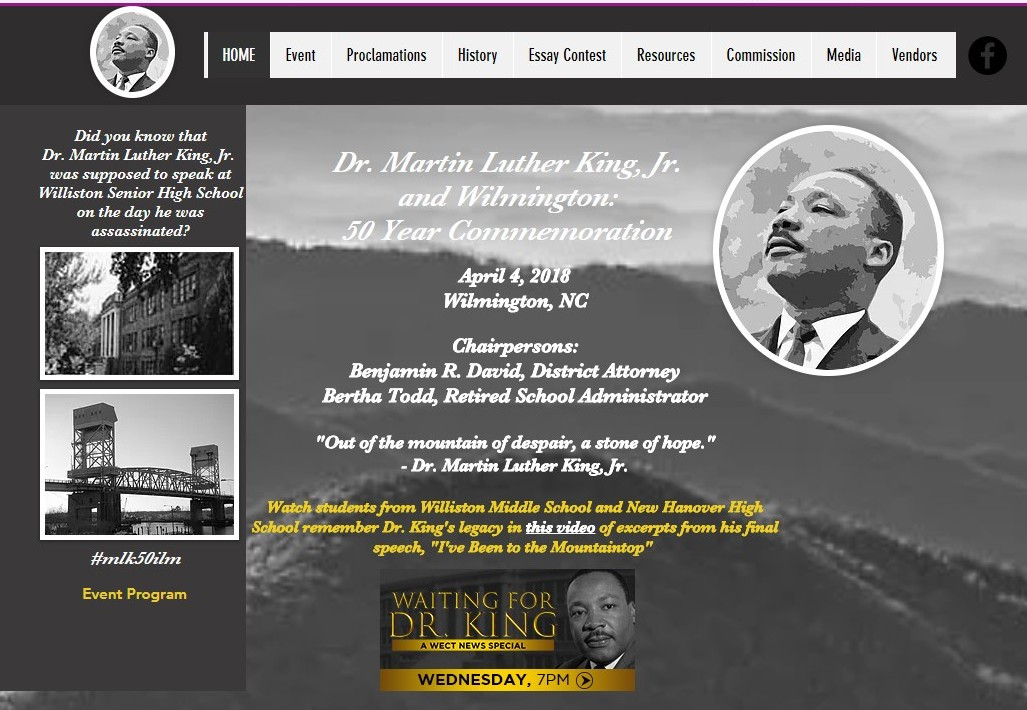 MLK & Wilmington: 50 Year Commemoration website