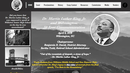 MLK & Wilmington: 50 Year Commemoration website