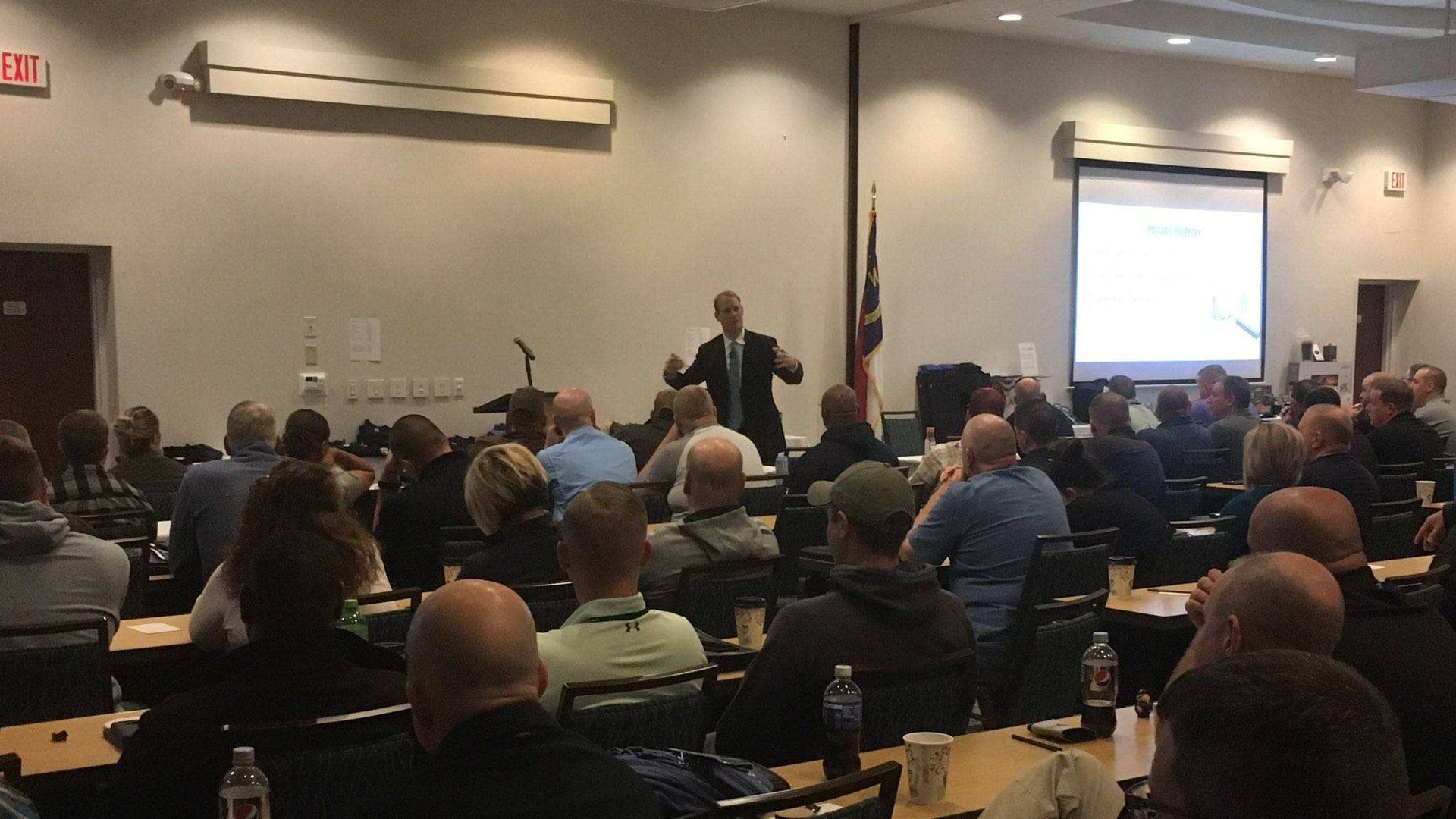 Ben David addressing the North Carolina Homicide Investigators Association