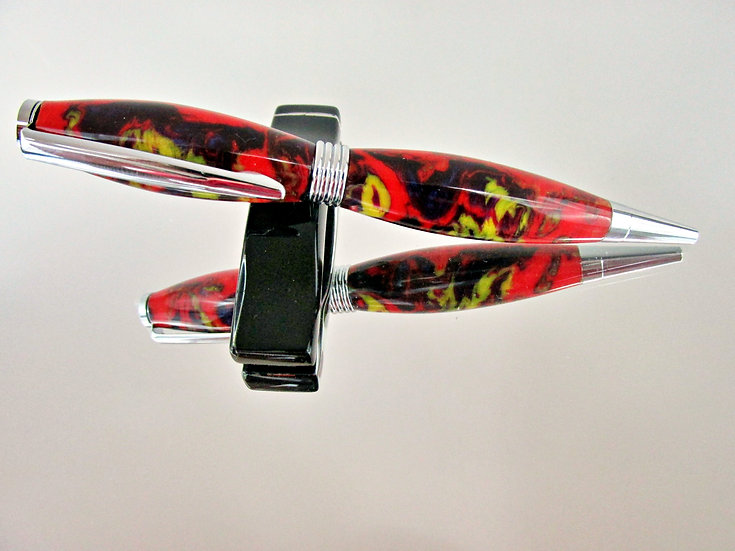 Handmade Jester Saturn Ballpoint Pen with Chrome Plating
