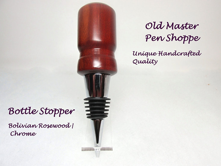 Bolivian Rosewood with Chrome Bottle Stopper