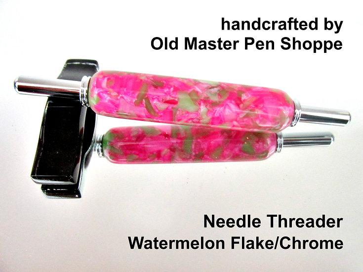 Handmade Watermelon Flake Needle Threader With Chrome Plating